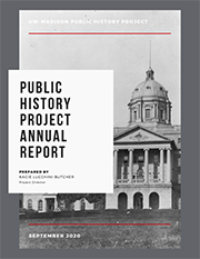 The cover of the 2019–2020 Public History Project Annual Report.