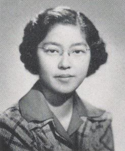 Toshi Toki's black and white senior picture in the University of Wisconsin's 1942 yearbook.
